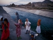Photo: Iranian girls playing near an irrigation canal