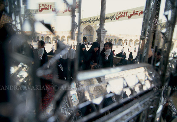 Women at the shrine of Hazrat Fatemah Ma'soomeh