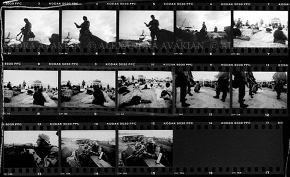 Contact sheet showing photos from Mogadishu, Somalia