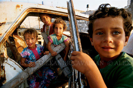 Children in the Shati Refugee Camp in Gaza